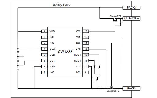 CW1233鋰離子電池和鋰聚合物電池保護芯片的中文數據手冊免費下載