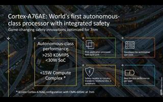 Arm推出全球首款7纳米制程的自动驾驶级处理器,...