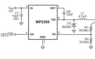 MP2359单片降压开关模式转换器内置的功率MOSFET详细数据手册