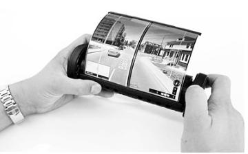 世界首款可卷曲触屏平板电脑问世,把柔性设备技术推向了全新领域