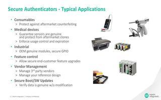 DS28E83 DeepCover防辐射1-Wire安全认证器简介