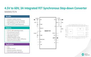 MAXM17574降压型DC-DC电源模块的性能特点及应用介绍