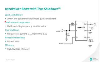 低静态电流的重要性及升压转换器MAX17222特...