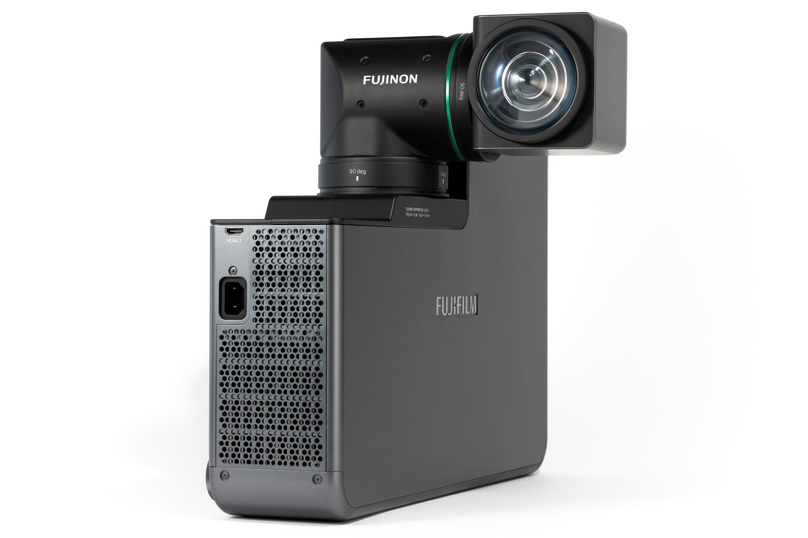 富士正研发一台搭载双轴旋转镜头的投影仪 可在狭小空间自由投影