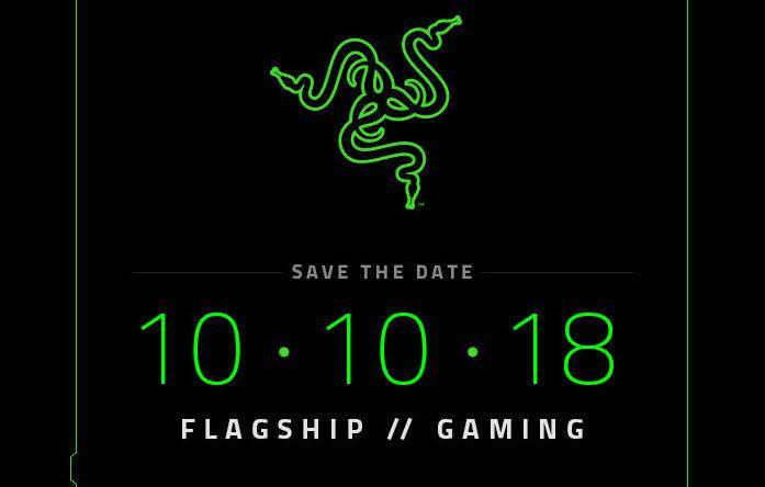 Razer将于10月10日发布旗下第二款手机