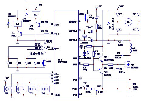 采用89C2051主控芯片应用在自动门控制