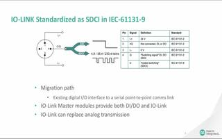 IO-Link技术的硬件、标准和通信协议以及参考...