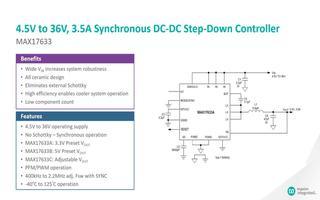 MAX17633同步降压DC-DC转换器的功能特点介绍