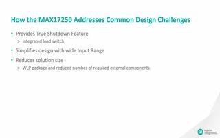 MAX17250升壓變換器的功能特點介紹