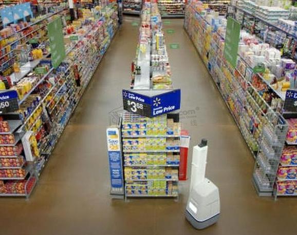 沃尔玛引入一种能在过道里自动穿梭的货架扫描机器人