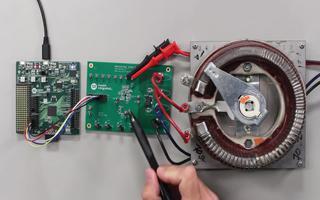 用电流感应放大器监测系统负载