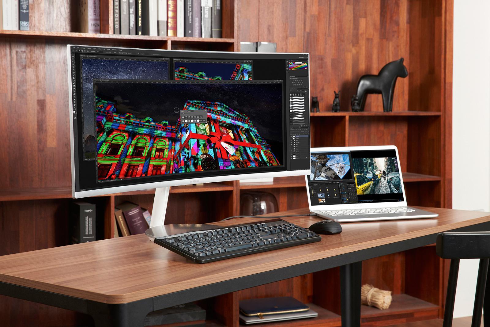 搭载Thunderbolt3口的三星34寸曲面QLED屏即将上市