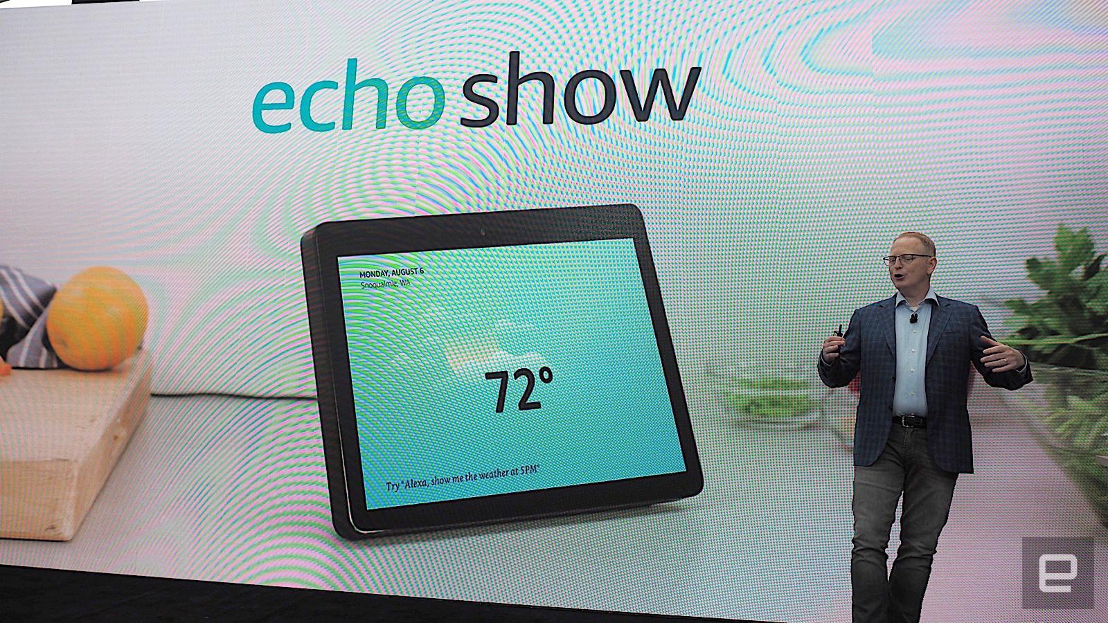 亚马逊新EchoShow显示器将曾至10寸 喇叭不再前置而是两侧发射