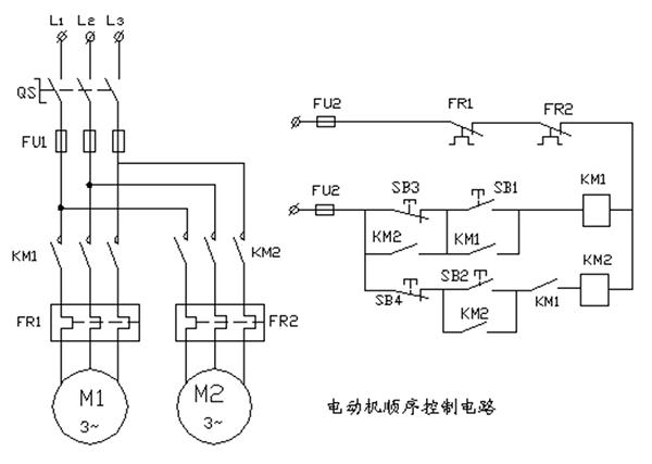 3,电动机顺序控制电路