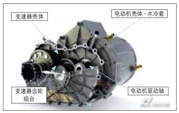 转子及变速器齿轮等结构构成.