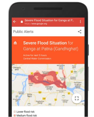 Google利用人工智能来改进洪水警报,使预测结果更加准确