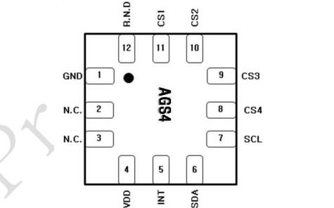 AGS04 4通道差分校准电容式触摸传感器的数据手册免费下载
