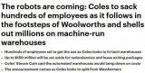 "Coles建智能仓库裁员,AI或成人们的""天敌""..."