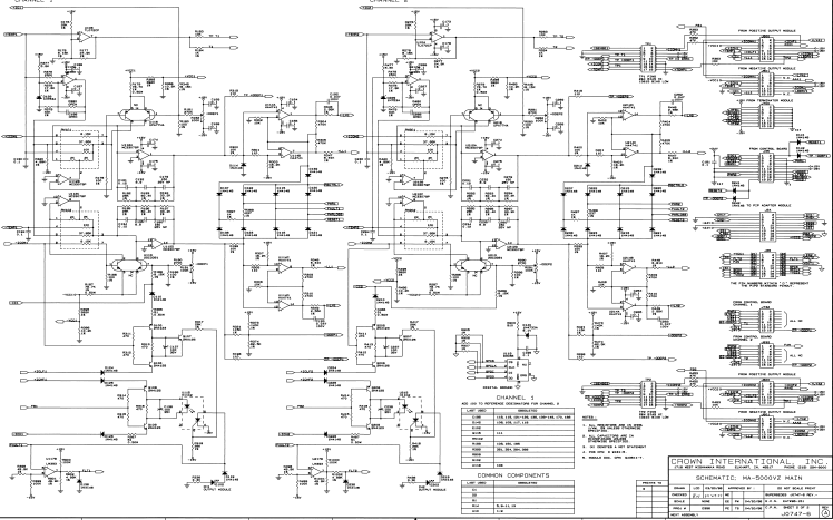 皇冠MA-5002VZ专业功放机详细电路原理图资料免费下载