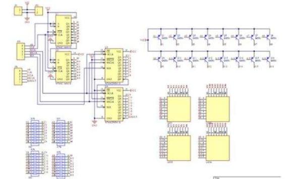 给力者GL9型51单片机开发系统16x16LED点阵显示原理图和程序免费下载
