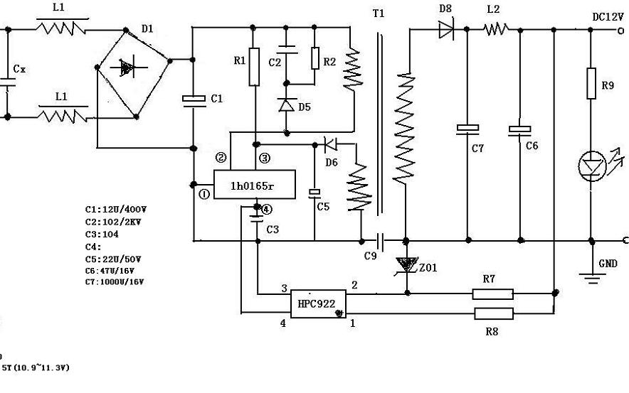 福安12V2.5A监控电源原理图详细资料免费下载