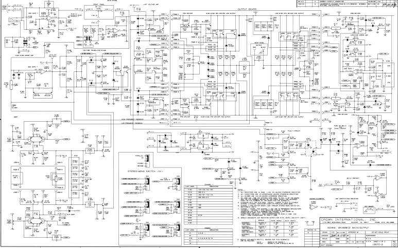 皇冠MA-3600VZ专业功放机详细电路原理图资料免费下载