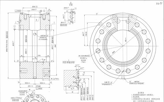 6THP25-SY1型號的閥體詳細三視圖資料免費下載