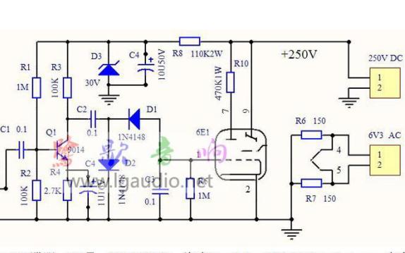6E1电子管调谐指示电平线路空板的资料免费下载
