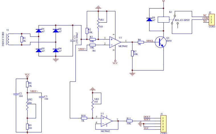 交流检测传感器的原理图详细资料免费下载