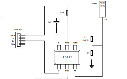 FS11X,12X和13X系列USB Type-A口快充協議智能管理芯片數據手冊