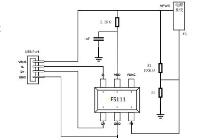 FS11X,12X和13X系列USB Type-A口快充协议智能管理芯片数据手册
