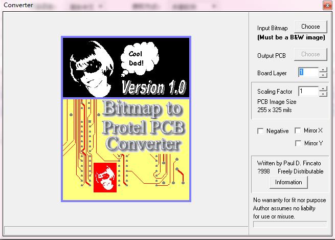 bmp位图转PCB文件工具BMPtoPCB应用程序免费下载