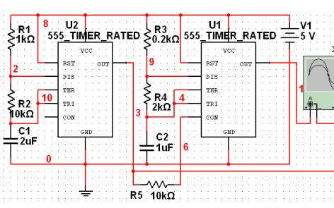 Multisim555定时器报警电路仿真的详细资料免费下载
