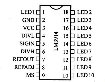 LM3914工作原理及电路接线的应用
