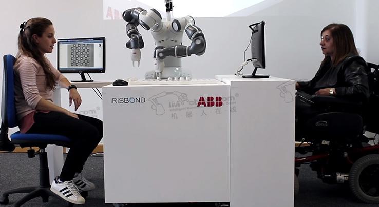 ABB与Irisbond合作研发出了一款可以让人用眼睛控制的机器人