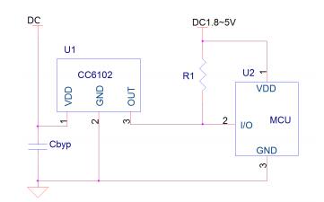 CC6102锁存型霍尔效应开关芯片的详细数据手册免费下载