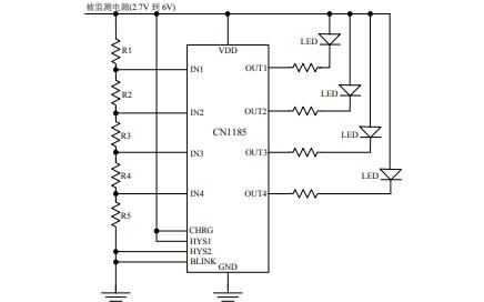 CN1185低功耗四通道电压监测集成电路的中文数据手册免费下载