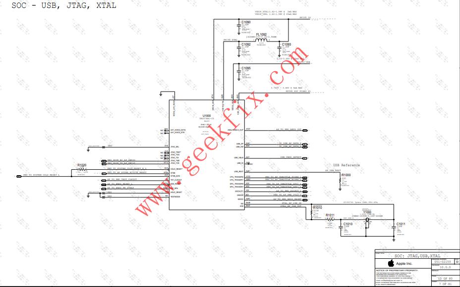 苹果8Plus高通版详细电路原理图资料免费下载