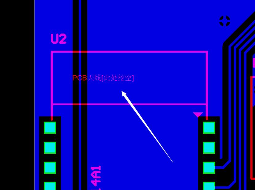 天线要求挖空处有走线会开路示意图1