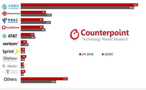 50億蜂窩物聯網連接,中國三大運營商將占據全球大...