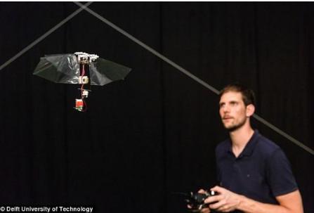 荷兰科学家公布了一种可以像昆虫一样在空中飞行的小型飞行机器人