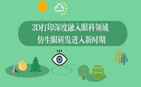 3D打印在医疗领域已用于眼科治疗的多个场景