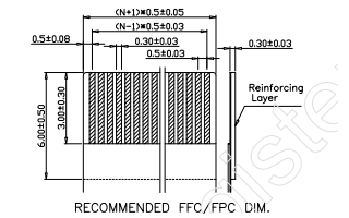 FPC间隔0.5mm排针原理图详细资料免费下载