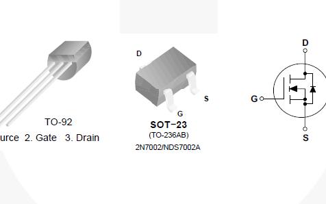 2N7000和2N7002及NDS2N7000AN沟道增强型场效应晶体管的数据手册