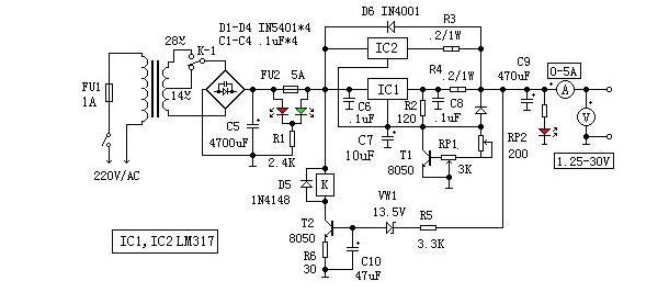 一种LM317可调稳流电源的设计