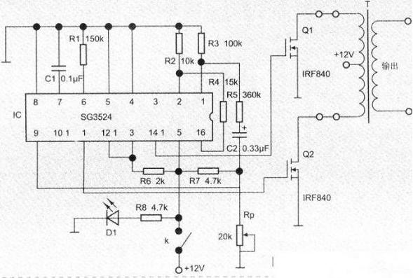 介绍一种简单便捷的工频小功率逆变器