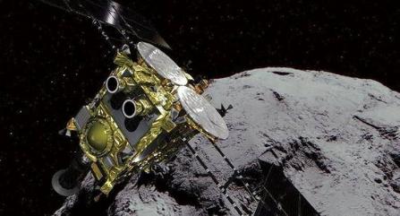 日航天long88着陆小行星,并成功拍摄了照片
