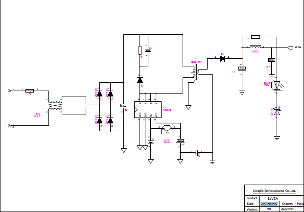 12v1a电源适配器的电路原理图资料免费下载图片