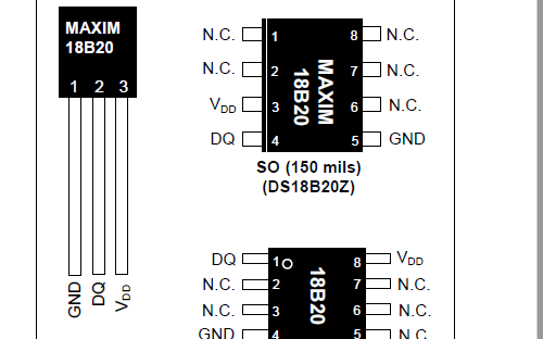 DS18B20数字温度计的数据手册免费下载