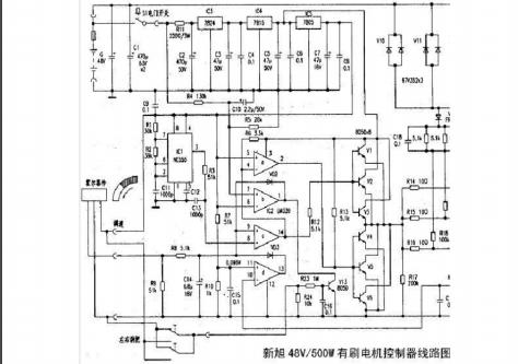 48v500w有刷电摩控制器电原理图和详细资料概述免费下载